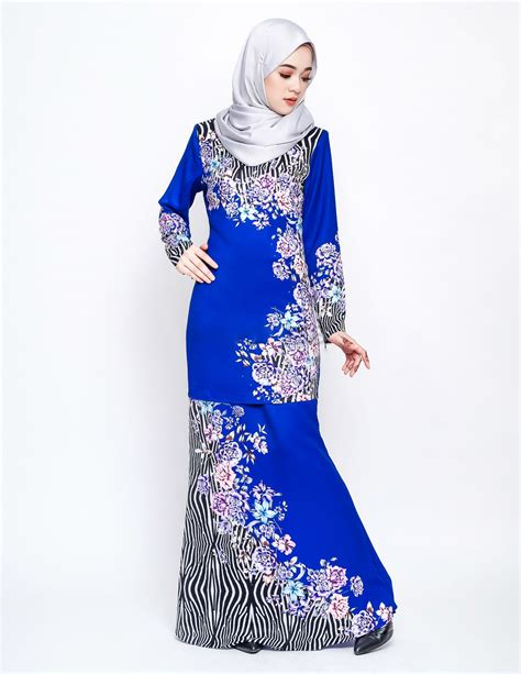 Baju Raya Warna Navy Blue baju kurung moden daeva royal blue lovelysuri