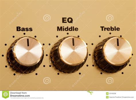 Bass Adjustment Knob by Equalizer Knobs Royalty Free Stock Photos Image 23193238