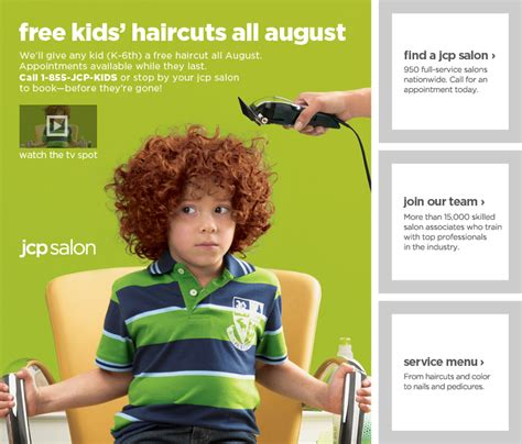 the back of penneys new haircut free haircut for kids at jcpenney back to school deal