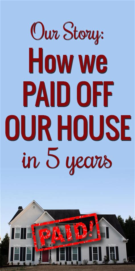 how we paid our house in 5 years