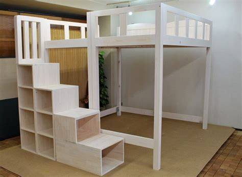 King Size Loft Bed With Stairs by Home Bed Ideas And King Size Loft Bed With Stairs Adastra