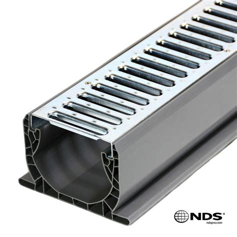 nds 3 in plastic channel drain kit nds spee d channel drain kit w galvanized metal grate
