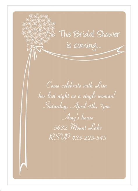 free printable wedding evening invitations 22 free bridal shower printable invitations