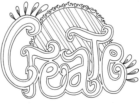 coloring pages that have words create word coloring pages grown ups creative words