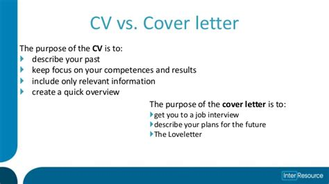 cv and cover letter counseling