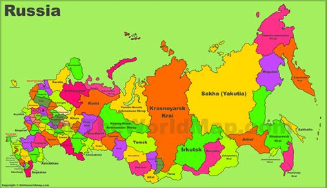 map of the administrative divisions map of russia