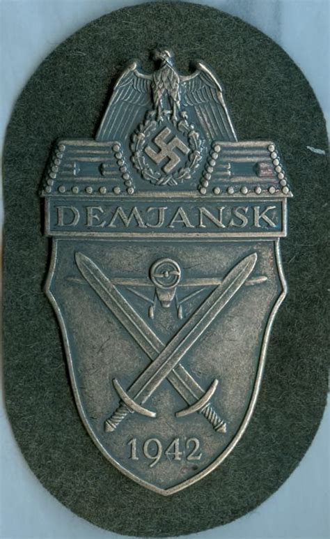 demjansk battle shield kelleys military