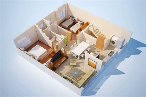 colored 3d home design plans 3d house plans home ideas 3d floor plan rendering and architectural marketing