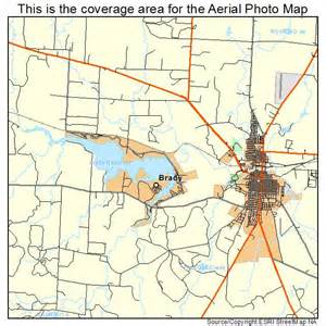 aerial photography map of brady tx