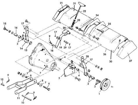 Ford 105 Tiller Parts Diagram