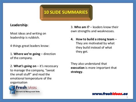 Five Minute Mba by The 80 Minute Mba 10 Slide Summaries