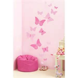 girls nursery and bedroom wall stickers pink collection vinyl decal white owl tree set baby