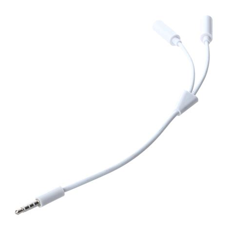 3 5mm Audio Splitter Cable White 3 5mm audio wire splitter adapter cable white q5q4 n3k9