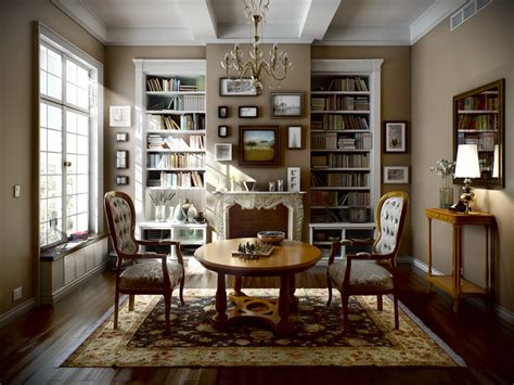 classic home interior classic interior by viktor fretyan scenes 3dtotal com