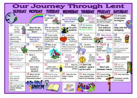 lentern resource printable lent calendar  encourage children  remember  true meaning
