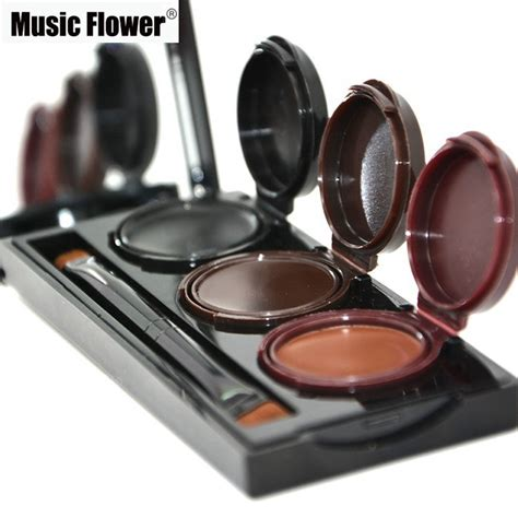 Flower Eyeliner Powder Brown 3 colors flower makeup eyebrow powder eyeliner gel