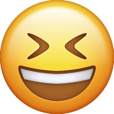 smiling  closed eyes emoji   ios emojis