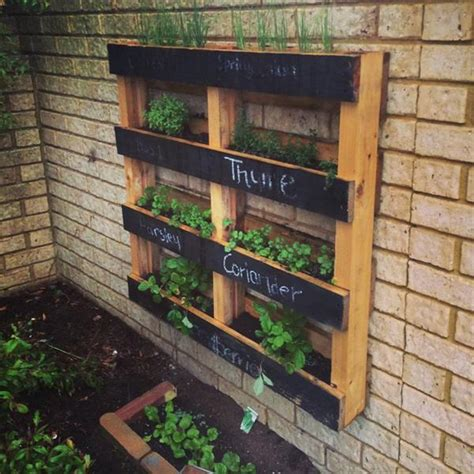 10 Wood Pallet Vertical Garden On Your Wall Pallets Designs Wall Hanging Herb Garden