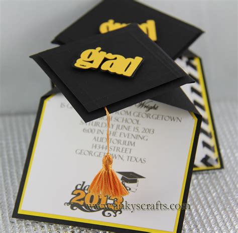graduation pop up card 3d cap template jinky s crafts designs 3d graduation cap pop up invitations