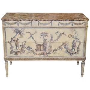 italian louis xvi painted and decoupage commode for sale