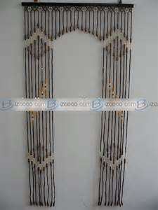 Hand painted beaded bamboo door curtain animals scenary or portrait