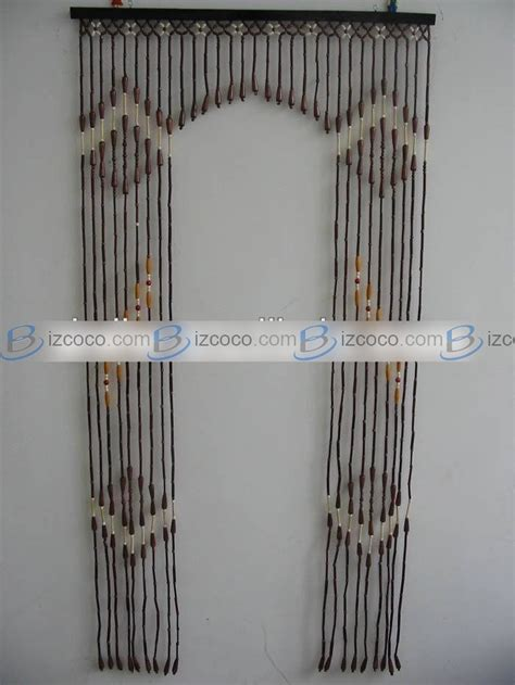privacy beaded curtains wooden sliding door screen curtain china trading