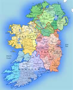 large detailed administrative map of ireland ireland