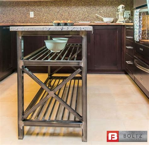 kitchen island metal chef x kitchen island cart by kitchen dining boltz steel furniture metal home decor