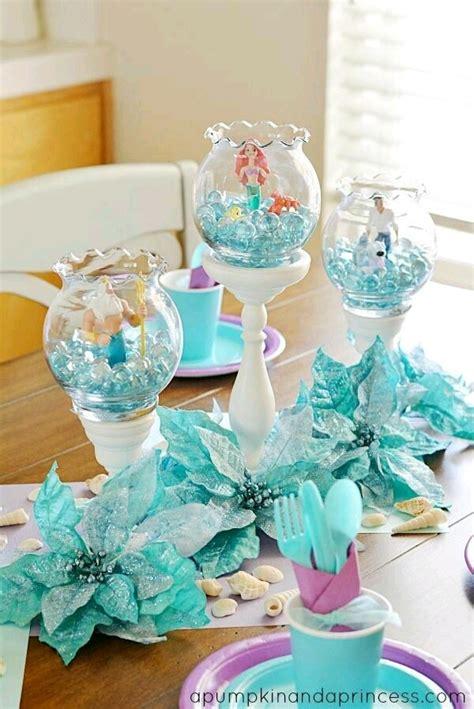 centros d mesa para bautizo sencillos y bonitos originales y creativos centros de mesa de la sirenita