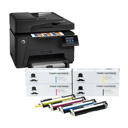 Printer Hp Color Laserjet Pro M177fw hp 174 color laserjet pro mfp m177fw all in one printer with hp 130a combo set moustache