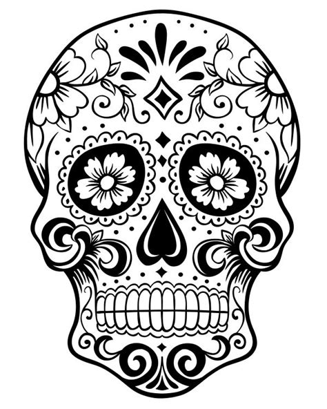 Skull Collage Design Outline by 17 Best Images About Sugar Skulls Coloring Pages On Simple Sugar Coloring Pages