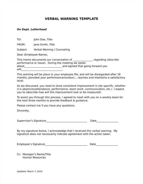 late warning letter examples word format