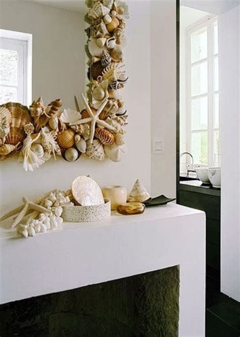 How To Decorate A Mirror With Shells by How To Decorate With Seashells 37 Inspiring Ideas Digsdigs
