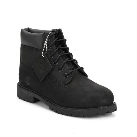 Spreimu Waterproof Uk 100x200 timberland youth black 6 quot premium waterproof ankle leather boots casual shoes ebay