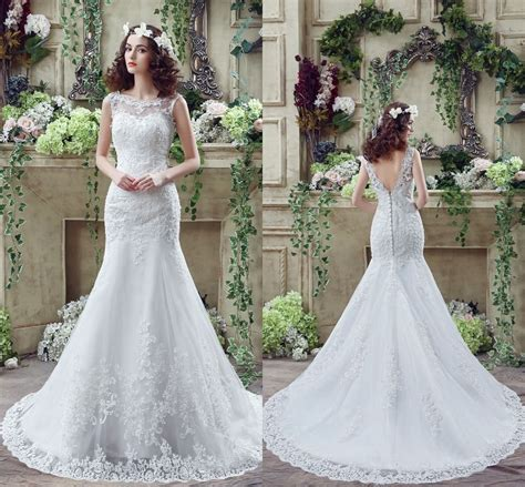 Ebay Wedding Dresses by Cheap White Ivory Wedding Dresses Mermaid Lace Appliques