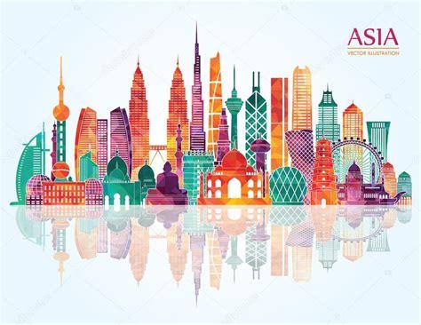 indonesia detailed skyline vector illustration stock asia skyline detailed silhouette stock vector