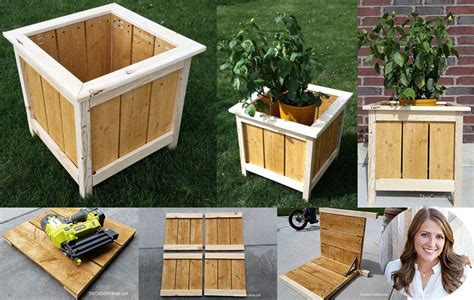 square planter box plans   diy