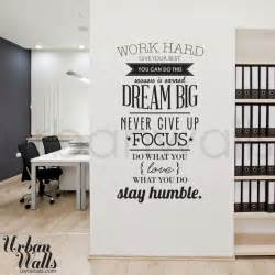 inspirational stickers for walls work hard offices work hard and inspirational