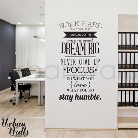 wall inspiration work hard offices work hard and inspirational