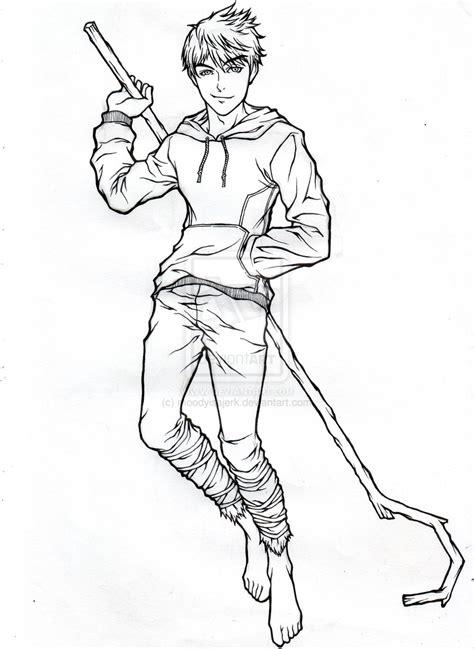 jack frost lineart wip by moodyisajerk on deviantart