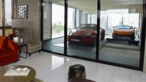 super luxury singapore apartment with in room car parking singapore apartment features in suite garages