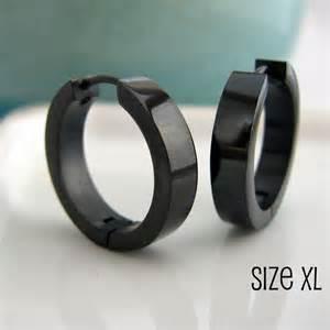 mens black earrings large black hoop earrings for black stainless steel