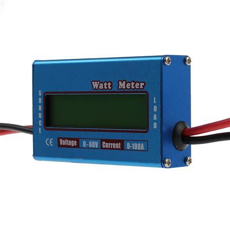 Wattmeter Kwh Meter Dc lcd digital watt meter battery 60v 100a dc ammeter rc battery power analyzer us ebay