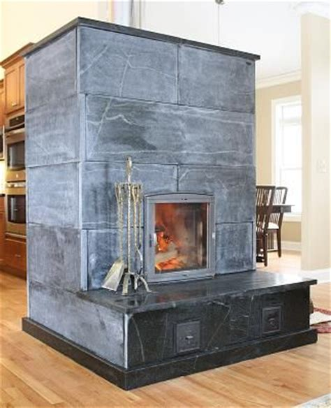 Soapstone Masonry Heater soapstone masonry heater with bench fireplace