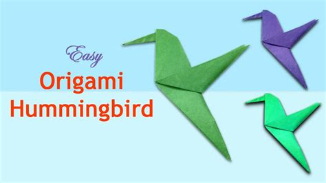 Hummingbird Origami - how to make an origami hummingbird paper bird craft