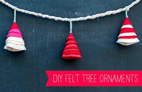 Handmade Felt Tree Ornaments - diy felt tree ornaments