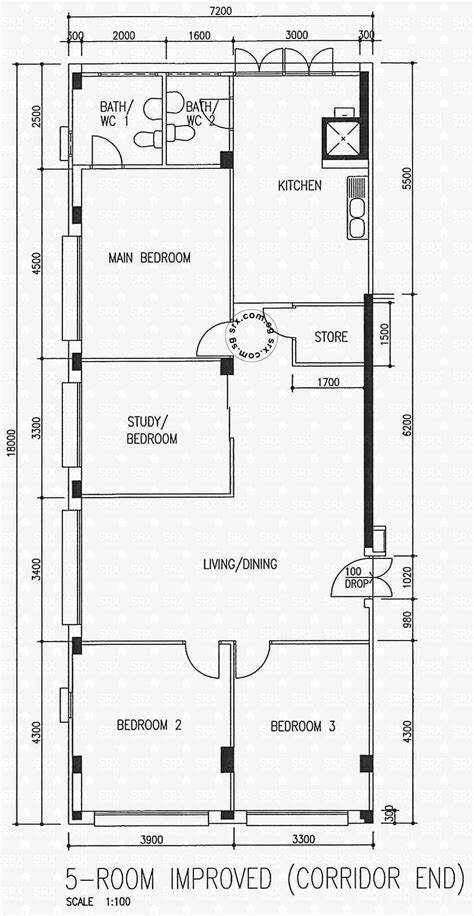 1 Avenue Floor 5 - floor plans for serangoon avenue 4 hdb details srx