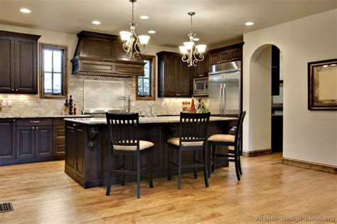 dark colored cabinets in kitchen pictures of kitchens traditional dark wood walnut