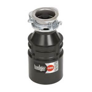 garbage disposal home depot insinkerator badger 500 1 2 hp continuous feed garbage