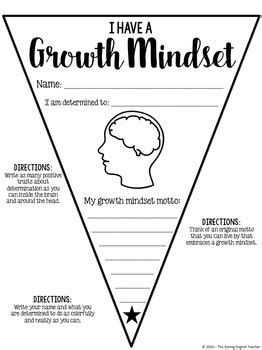 Growth Mindset Pennant Banner By The Daring English Teacher Tpt Growth Mindset Template